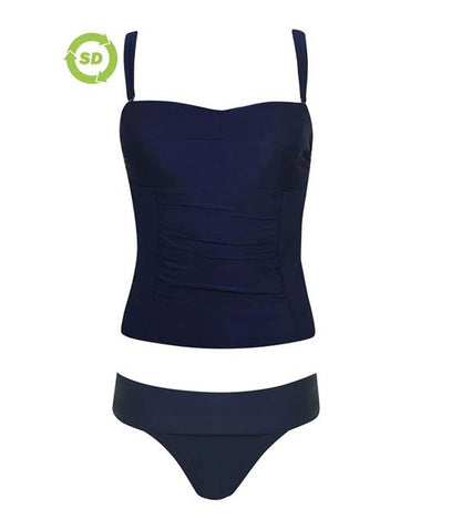 Lace Up Color Block Swimsuit