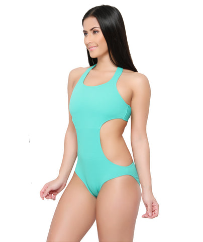 Peppermint Textured Monokini (UK 8 Only)