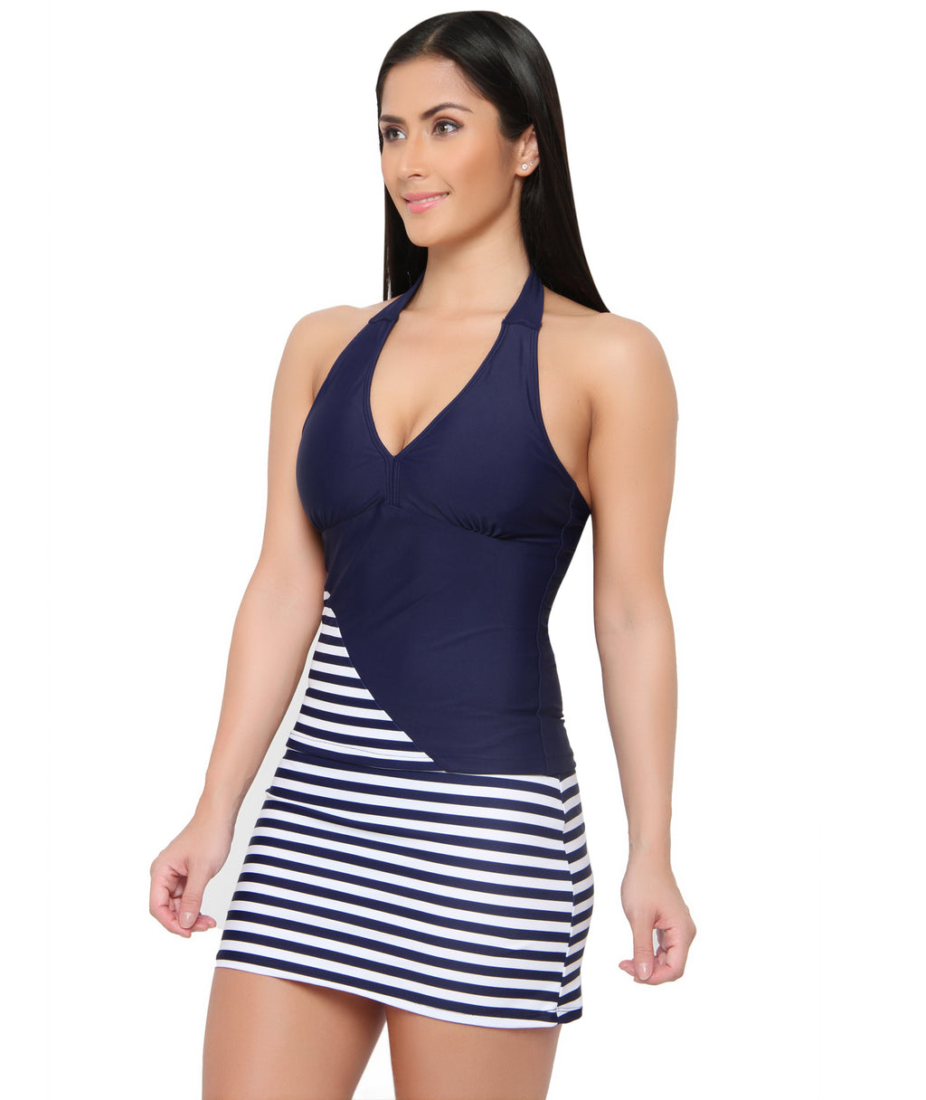 Ready to Sail Skirted Tankini Set (UK 8 Only)