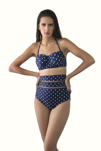 Polka Dot High Waisted Bikini