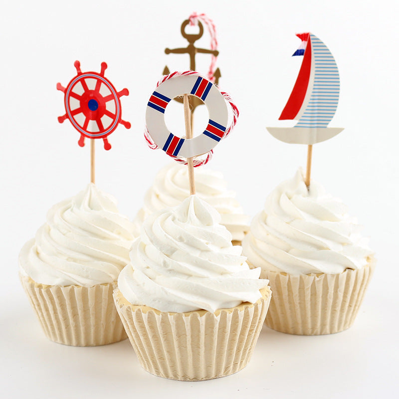 Nautical Cupcake Toppers (Pack Of 24)