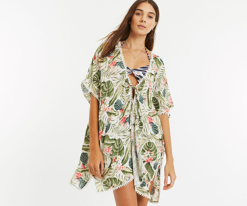 Shop Beachwear online - Shop Resortwear online - Shop Cover up online - Shop kaftan - Tropical print kaftan online - The Beach Company India