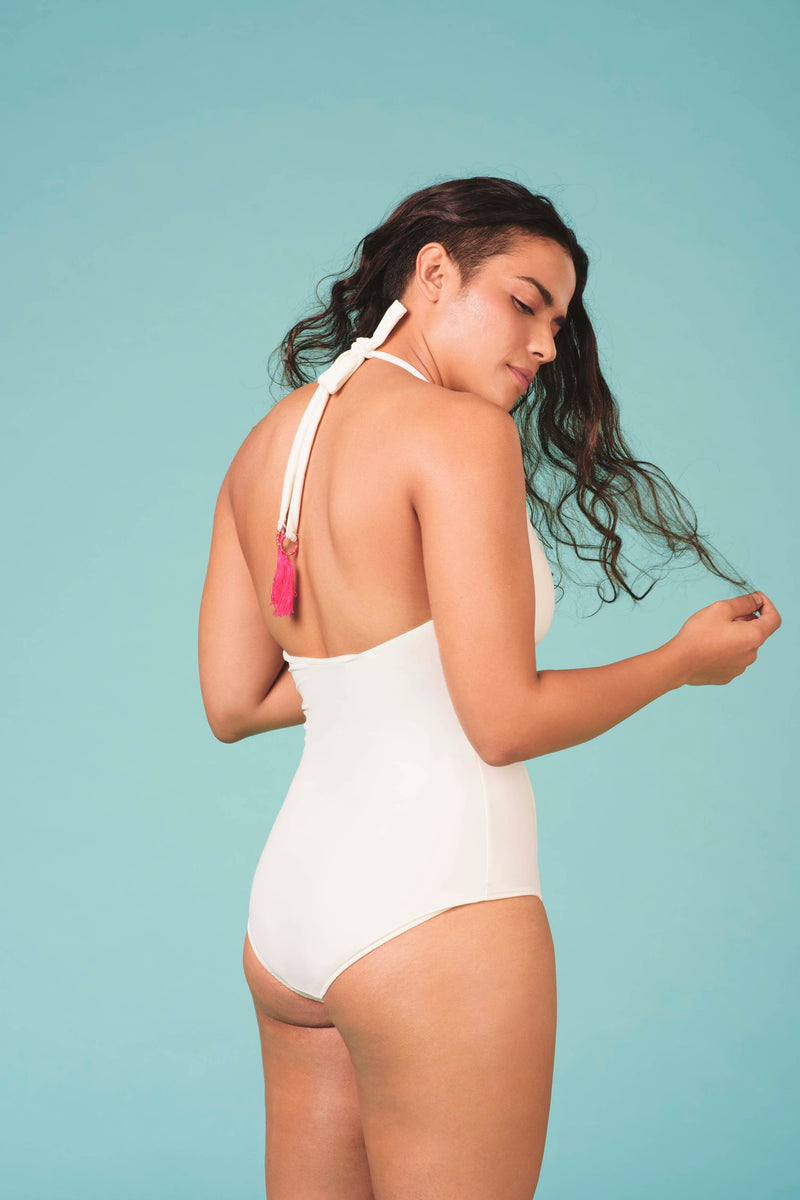 PA.NI Sanna Halter in White