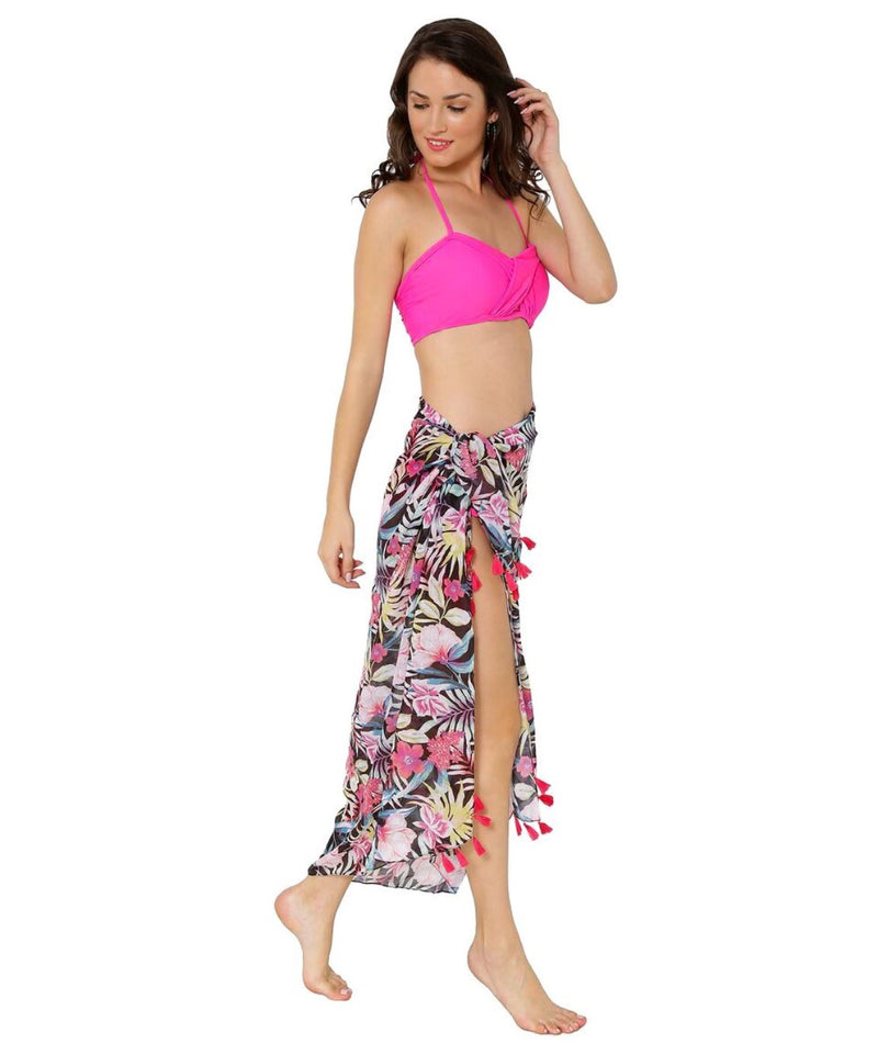 Tropical Pop Tassel Sarong