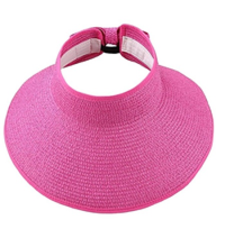 Wide Brim Roll-Up Straw Hat