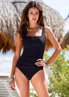 Black Rouched Swimsuit