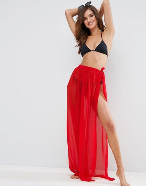 Red Wrap Skirt/Sarong