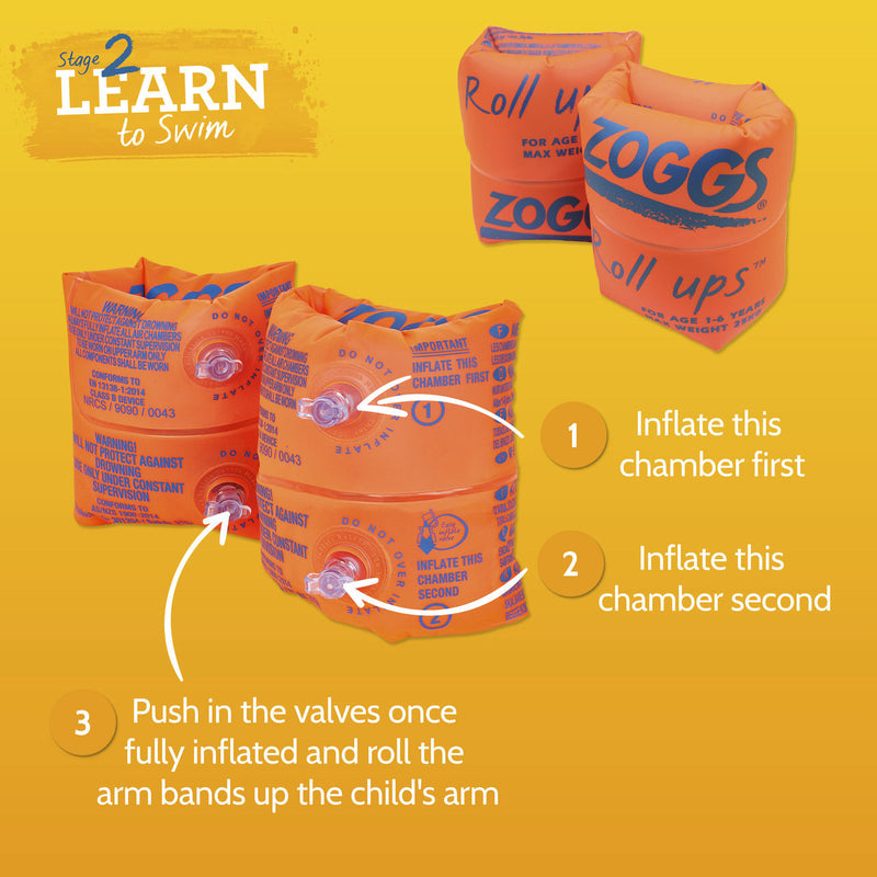Zoggy Roll Ups (1-6 Yrs) Orange