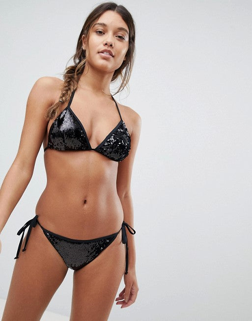Shop Bikini Set online - Shop women's swimwear - two piece sets online - The Beach Company Online India - Shop Fashion Swimwear - Sequined bikini sets online - Women's swimsuit