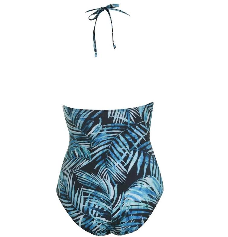 SoulCal Palm Print Cupped Swimsuit