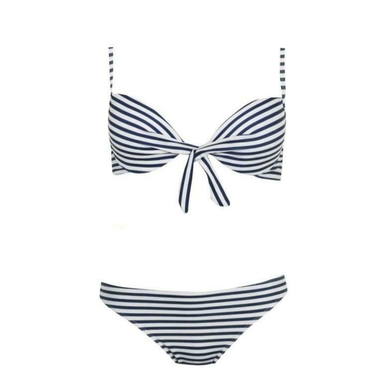 Shop bikini set - The Beach Company India - Shop online bikini set - two piece - stripes bikini set - stripe swimwear - shop swimwear online - India