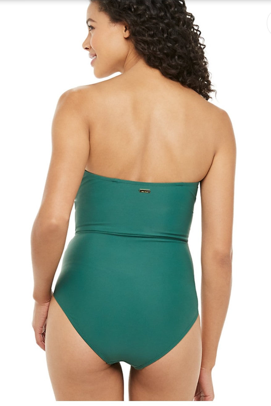 Draped Bandeau One-Piece Swimsuit