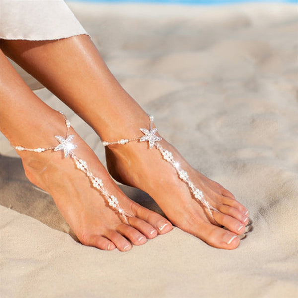 Sea Star Barefoot Anklet Set (1 pair)