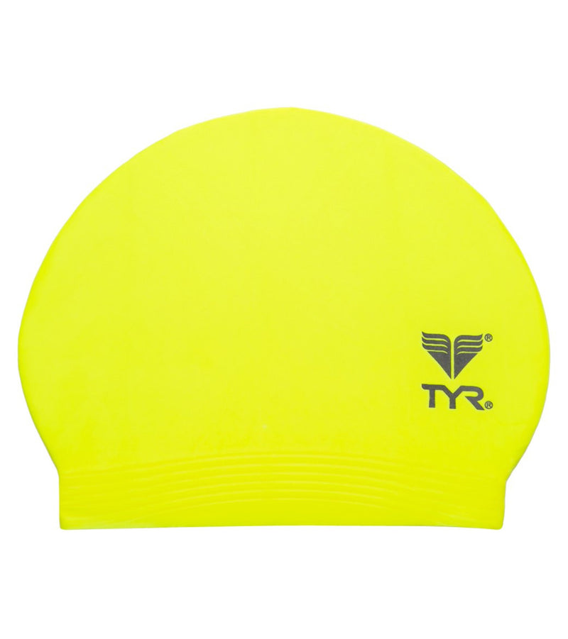 TYR Latex Swim Cap Pop Yellow