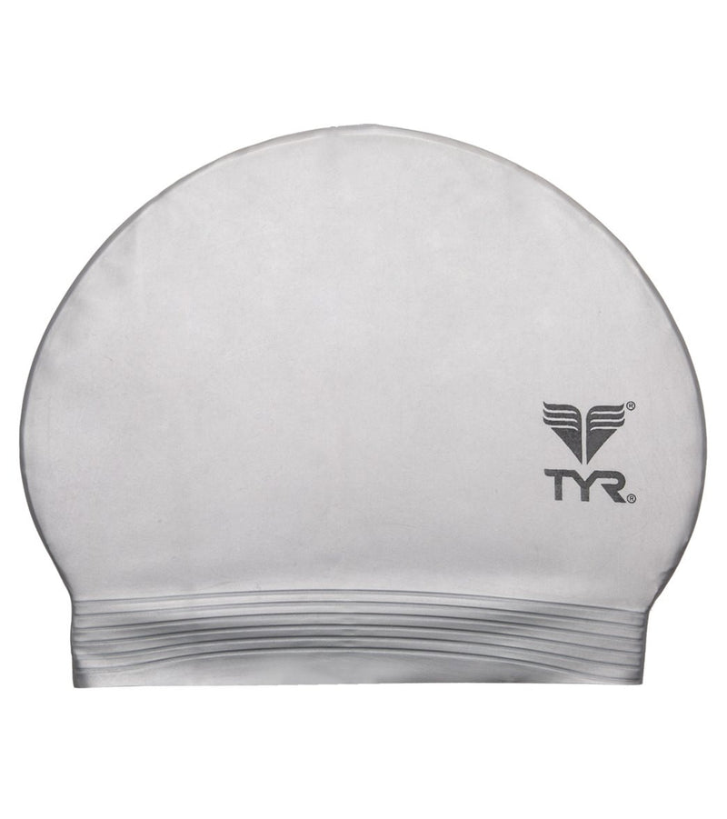 TYR Latex Swim Cap Silver