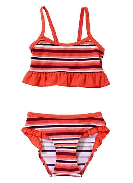 Striped Frill Bikini Set (Size 4-7yrs Only)