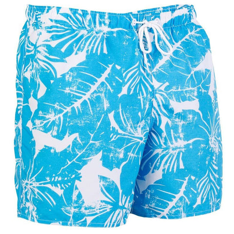 Aqua Floral Swim Trunks (Size 2XL Only)