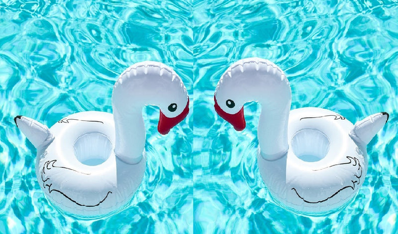 Inflatable Swan Drink Holder (Pack of 2)