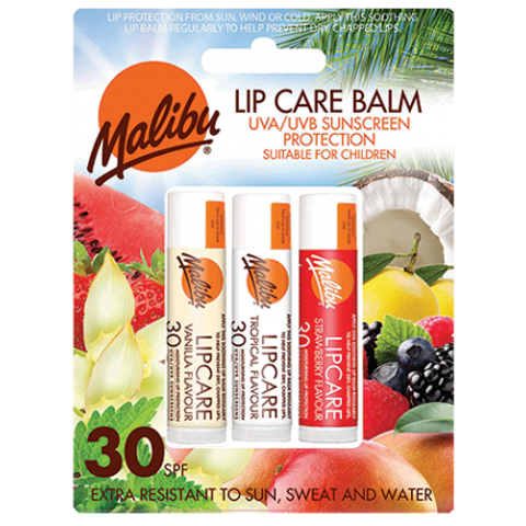 Lipbalm Vanilla/Tropical/Strawberry 3-pack SPF30