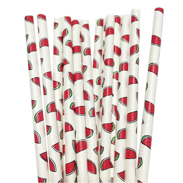 Watermelon Paper Straws (Pack of 25)