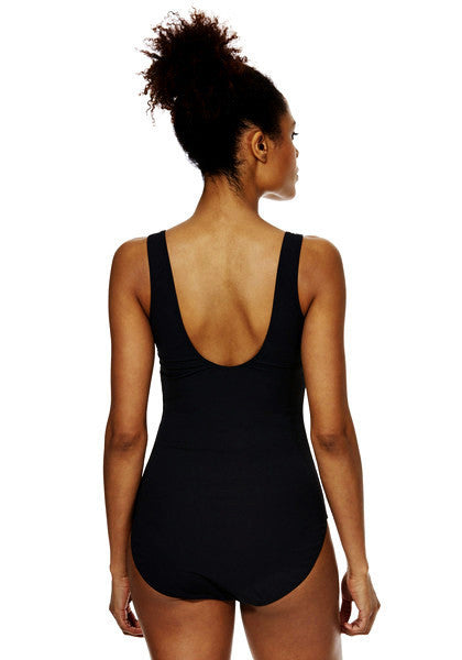 Zip Front Colour Block Swimsuit (Size UK8 Only)