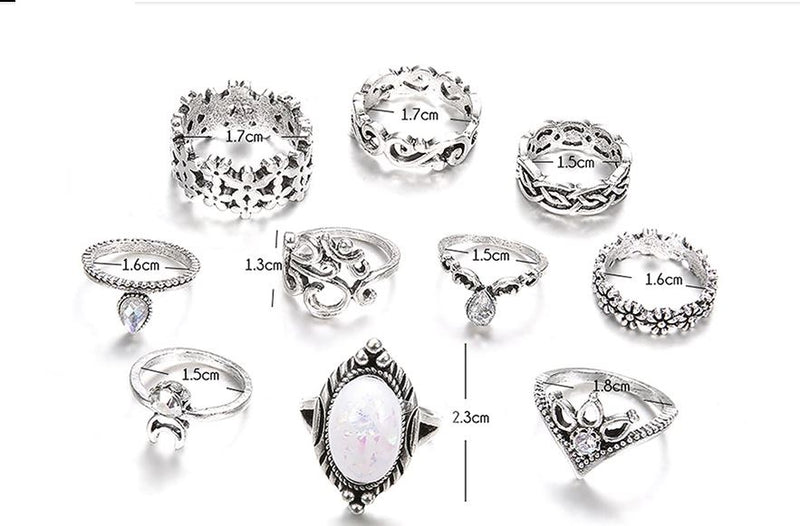Exquisite Hollow Flowers Ring Set
