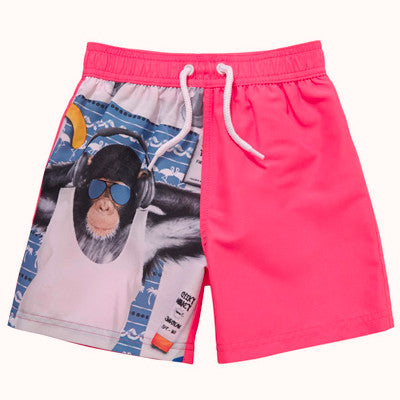 Chimp Print Swim Shorts