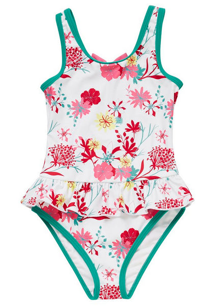 Floral Print Frill Swimsuit