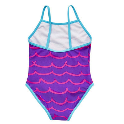 Wave Print Swimsuit (Size 4-5yrs Only)
