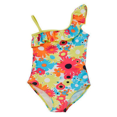 Floral Print Frilled Swimsuit (Size 4-5 yrs Only)