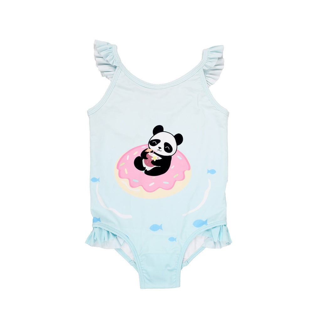 Cute as a Panda Girls Swimsuit
