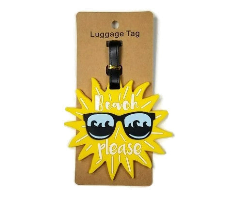 Beach Please Luggage Tags (Pack Of 2)