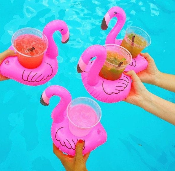 Inflatable Flamingo Drink Holder (Pack of 2)