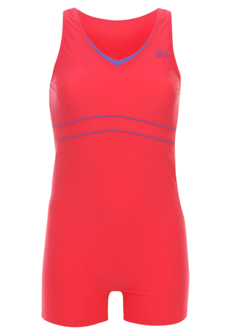 Slazenger Boyleg Swimsuit Berry