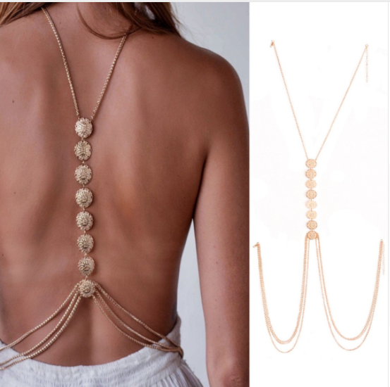 Coin Shaped Body Chain (2 Colors)