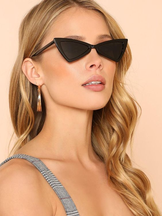 Black Triangle Frame Sunglasses