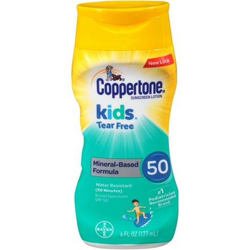 Coppertone Kids Tear Free Mineral Sunscreen Lotion - SPF 50 - 177ml