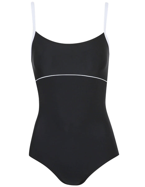 Contrast Trim Swimsuit (Size UK10 Only)