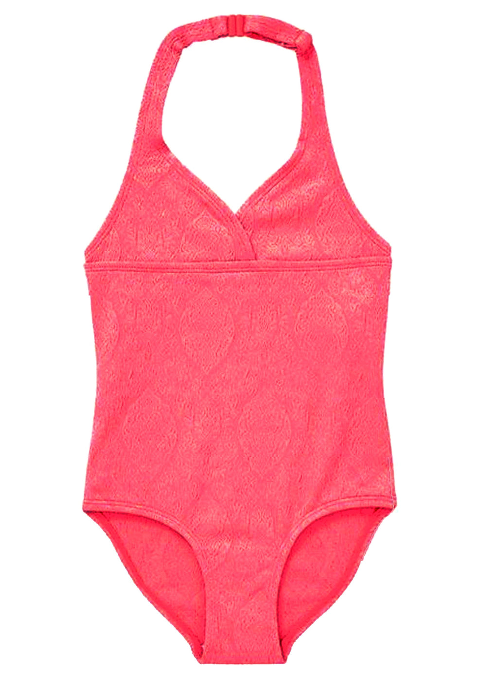 Neon Coral Jacquard Swimsuit (Only 4-5 Years)