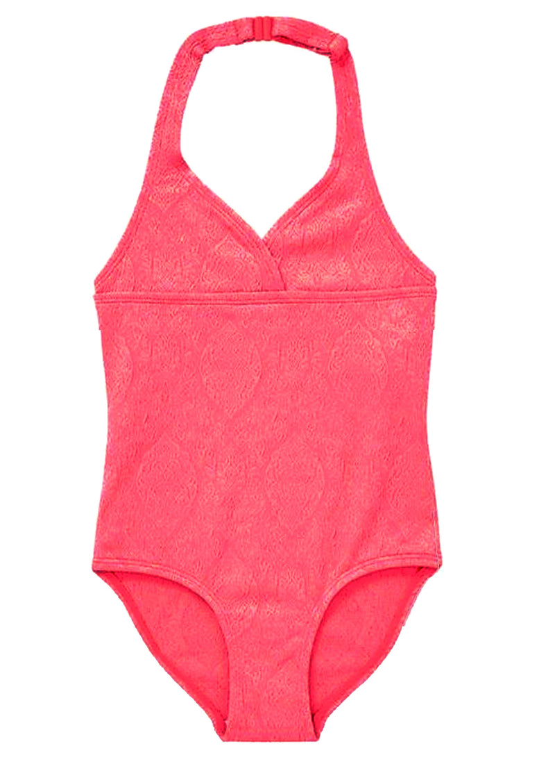 I Jacquard Swimsuit Beach The Neon Company Coral tgqpxEwT