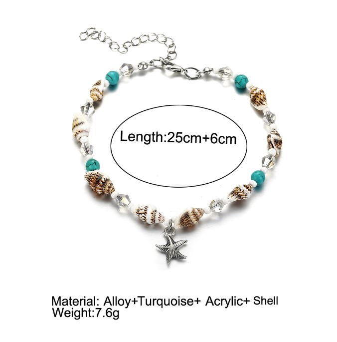 Conch Beads Anklet Set
