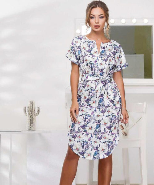 Floral Print Belted Sundress (M Only)