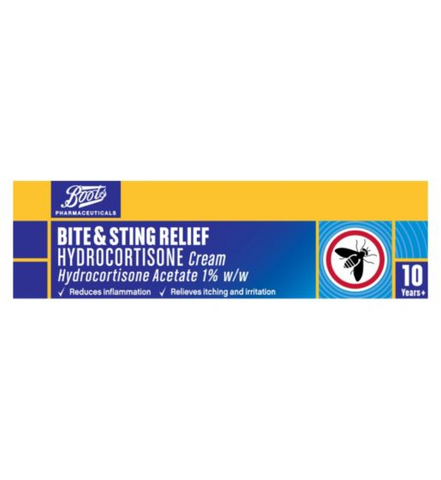 Boots Bite & Sting Relief Hydrocortisone Cream - 10g