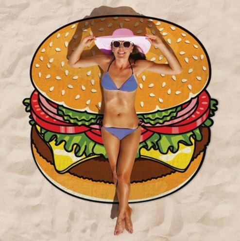 Burger Tapestry Beach Mat
