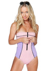 Neoprene Colour Block Swimsuit (Non-Padded)