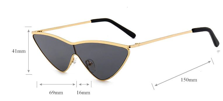 Black Extreme Cat Eye Sunglasses