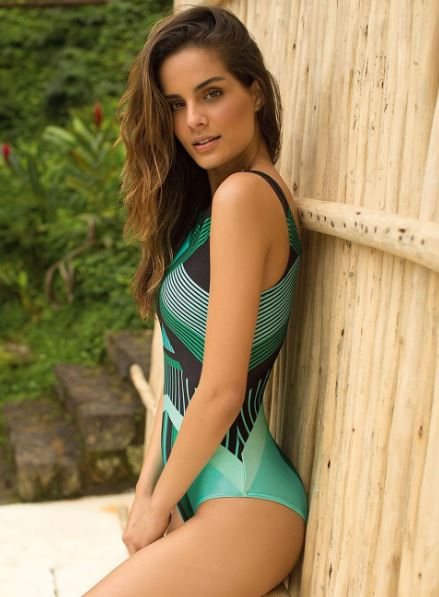 Emerald Geometric Swimsuit