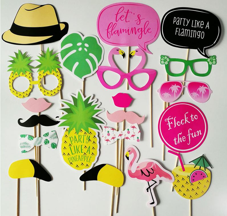 Let's Flamingle Photo Booth Props ( Pack Of 20 )