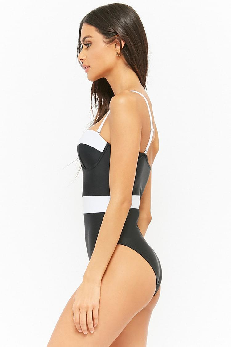aa66da82f99f8e Monochrome Balconette Swimsuit I Swimwear Online At The Beach Company