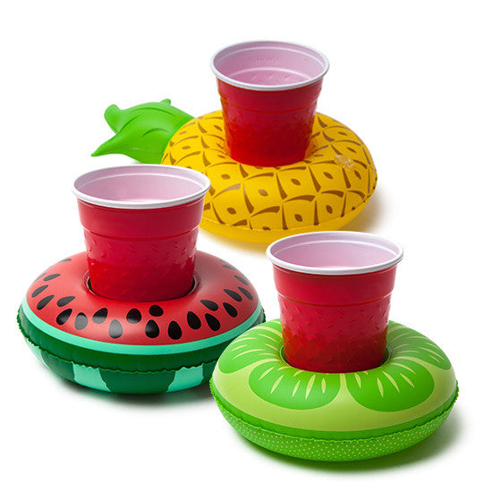 Inflatable Mini Fruit Drink Holder (Pack of 3)